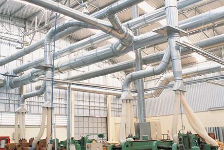 Loathanhduct Hệ thống ống gió hút bụi gỗ